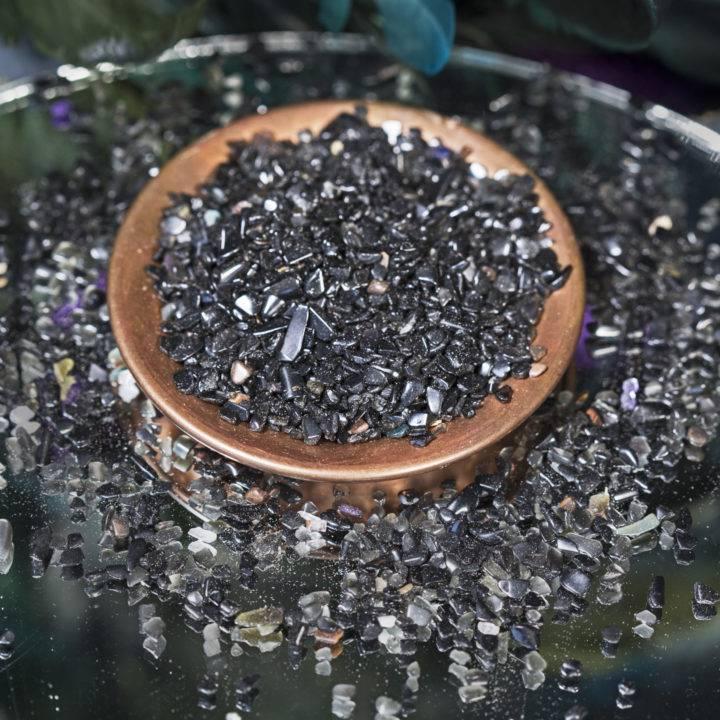 Tumbled Black Obsidian Chip Stones