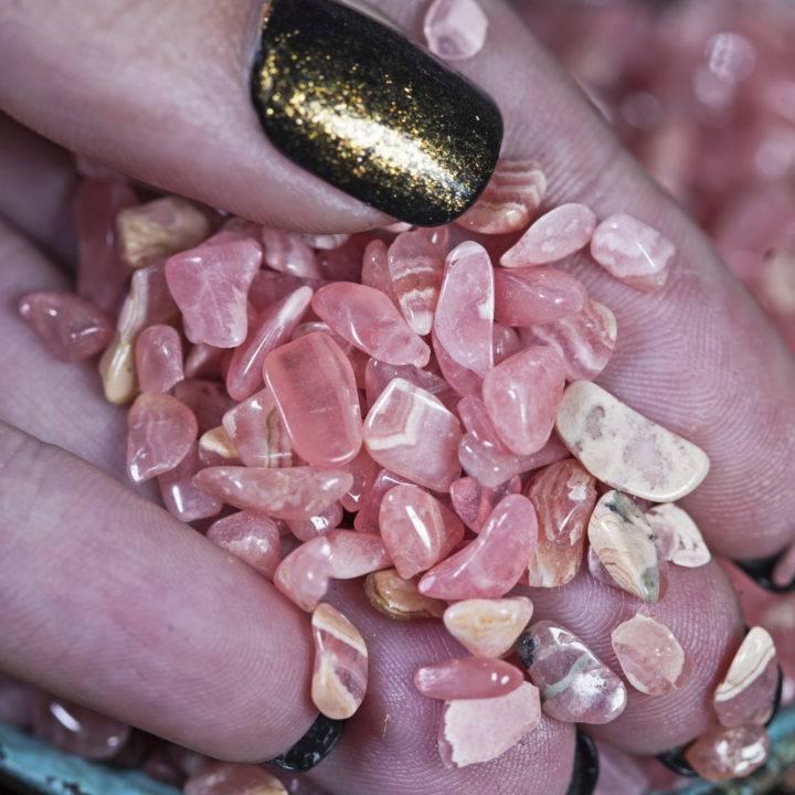 Tumbled Rhodochrosite Chip Stones