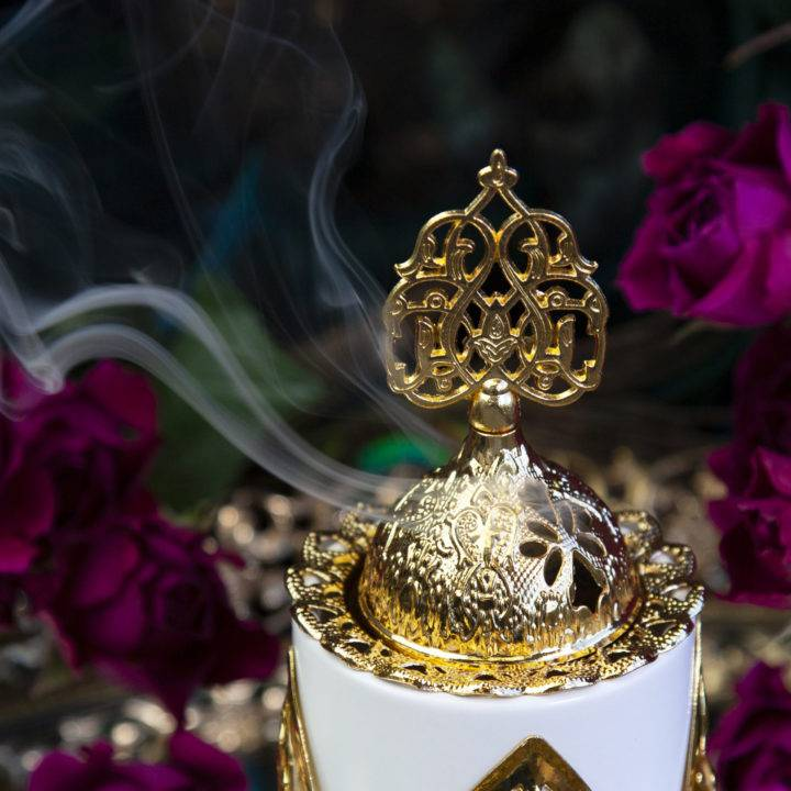 White and Gold Incense Burners