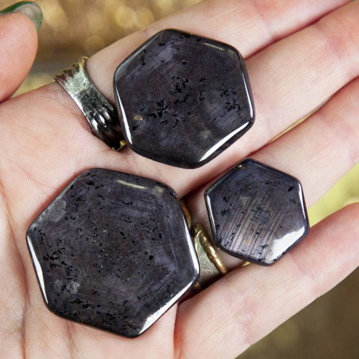 AAA Sapphire Ruby Hexagon Cabochons