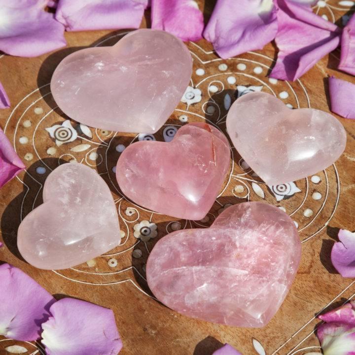 Agape Love Rose Quartz Hearts