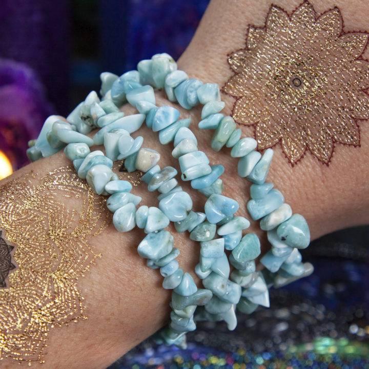 Atlantean Wisdom Larimar Bracelet