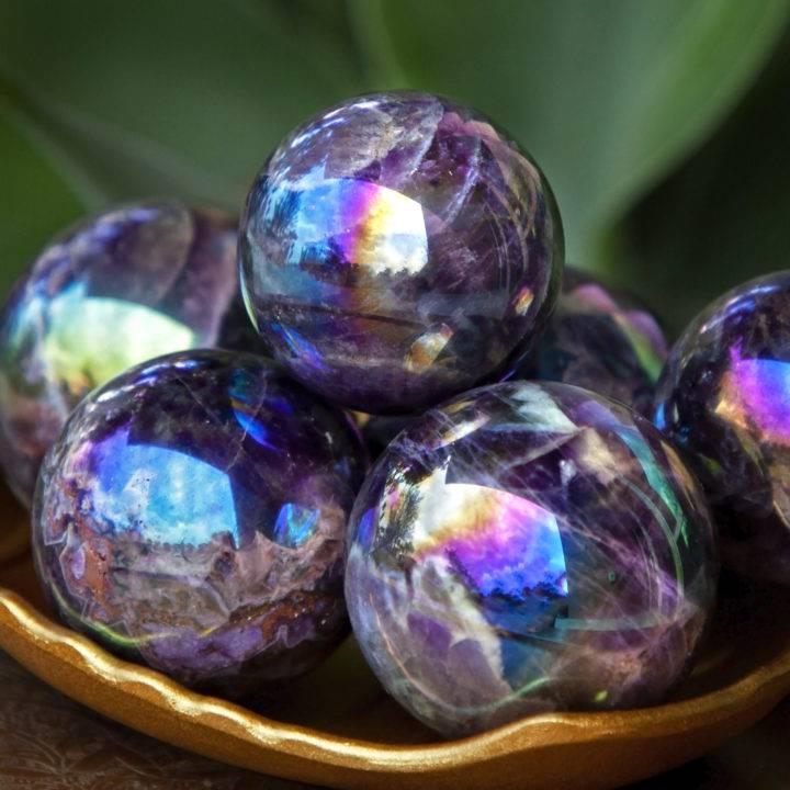 Aura Dream Amethyst Spheres