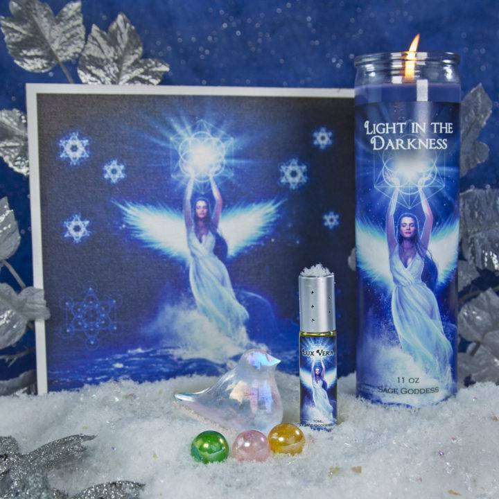 Alcyone Kingfisher Goddess Yule Set