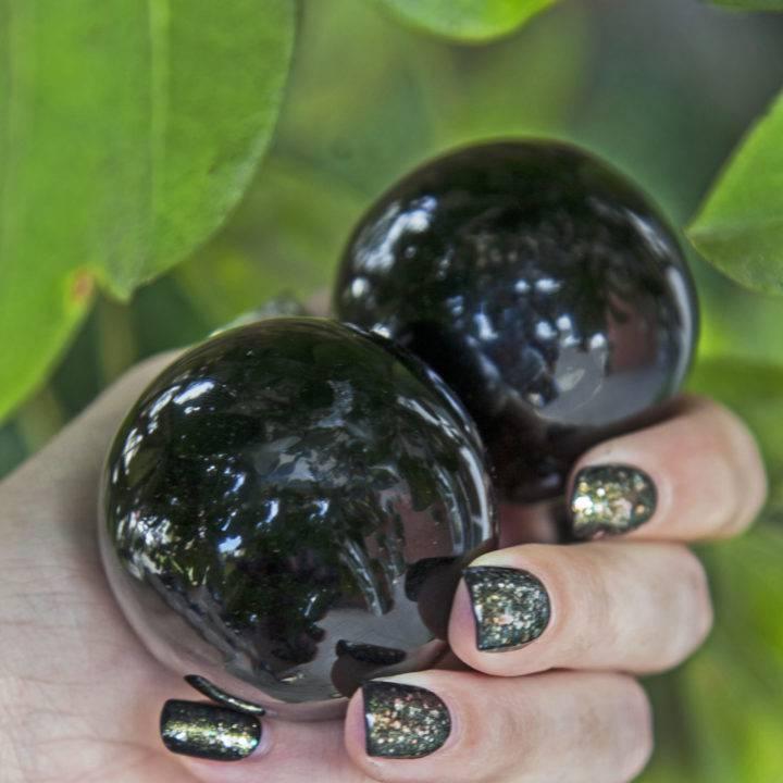 Black Obsidian Protective Healing Spheres