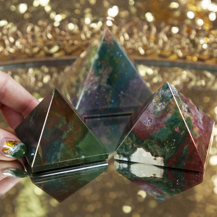 Bloodstone Healing Pyramid