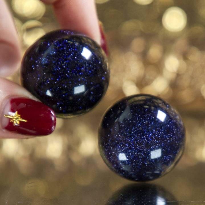 Blue Goldstone Spheres