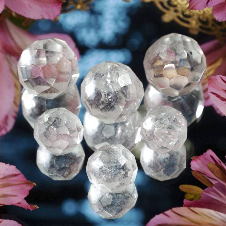 Clear Quartz Mini Faceted Spheres