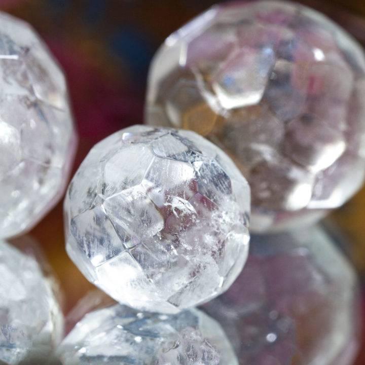 Clear Quartz Mini Faceted Spheres