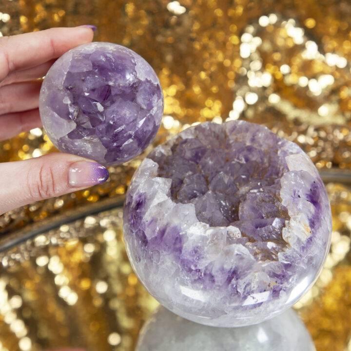 Druzy Amethyst Geode Sphere
