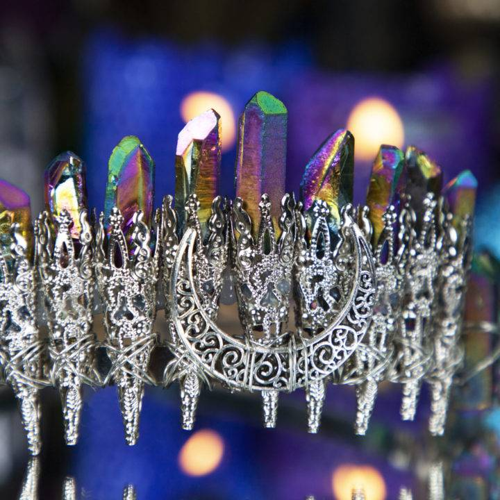 Elaborate Aura Quartz OMGoddess Crowns