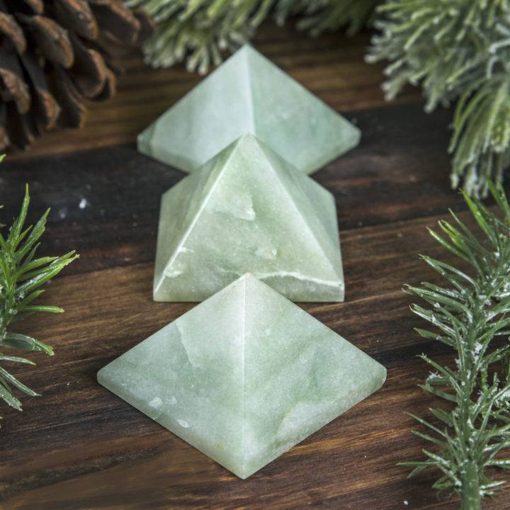 Green Aventurine Growth and Abundance Pyramid