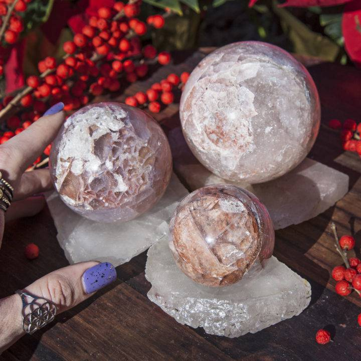 Hemium Quartz Sphere and Stand