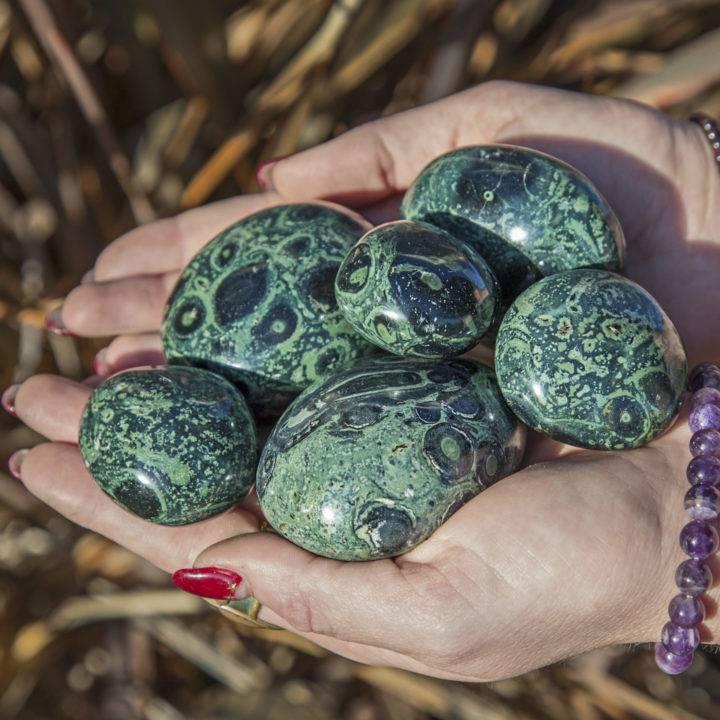 Kambaba Jasper Meditation Stones