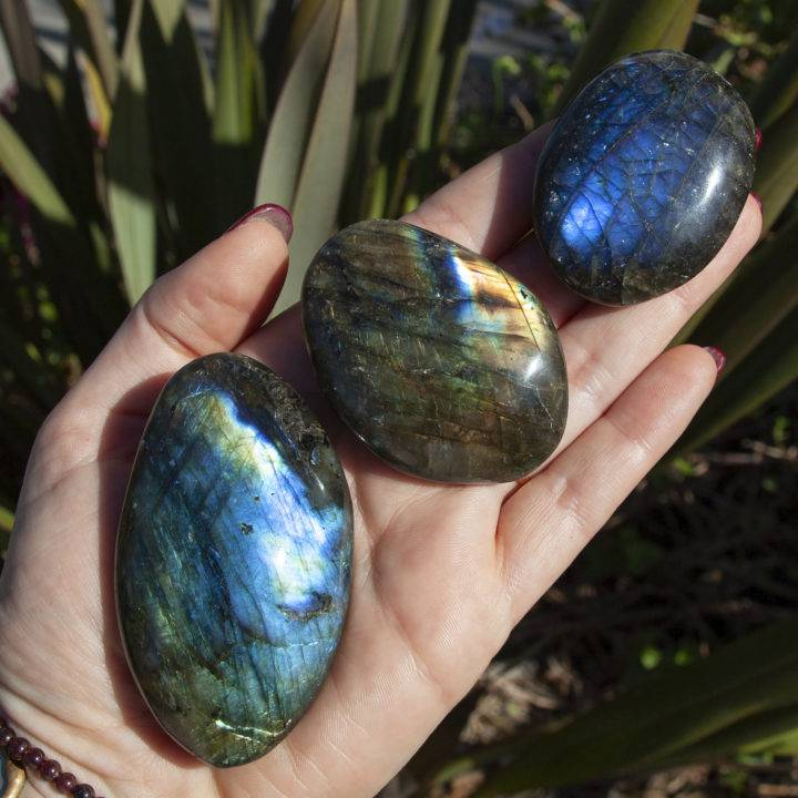 Labradorite Intention Setting Palm Stones