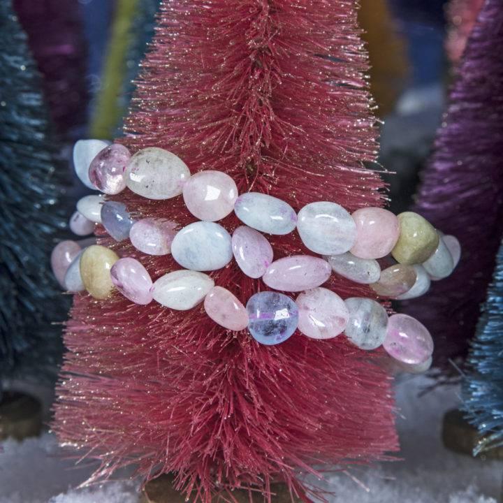 Morganite and Aquamarine Bracelet