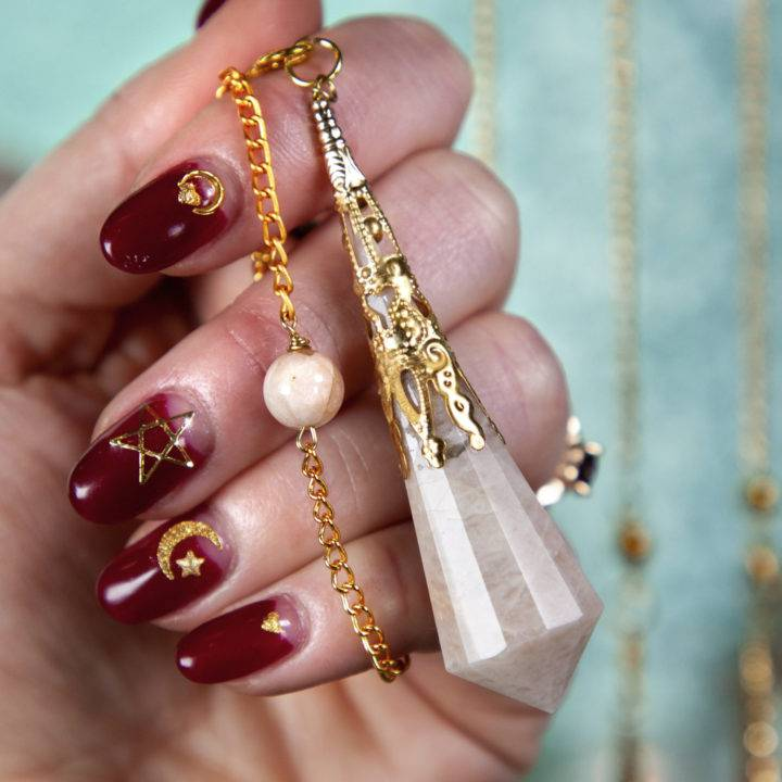 Peach Moonstone Manifestation Pendulums