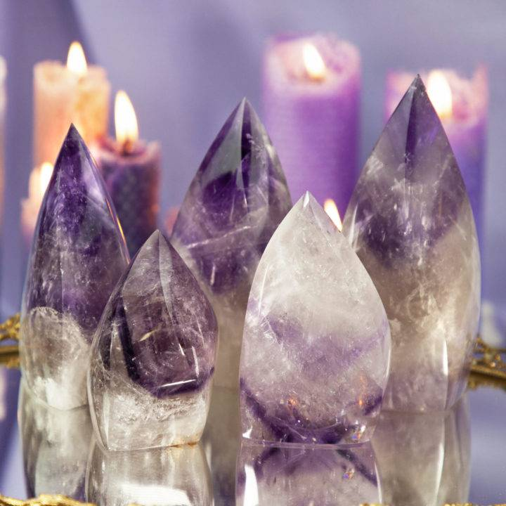 Phantom Chevron Amethyst Flames