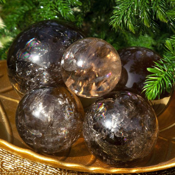 Protection and Manifestation Smoky Citrine Sphere