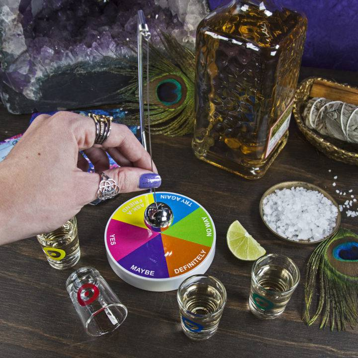 Pendulum Drinking Game with Shot Glasses