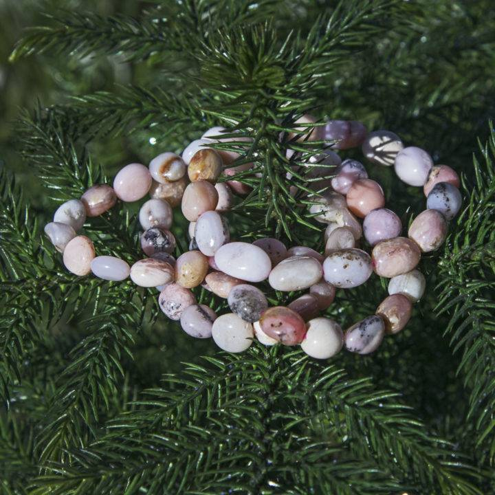 Peruvian Pink Opal Love Bracelet