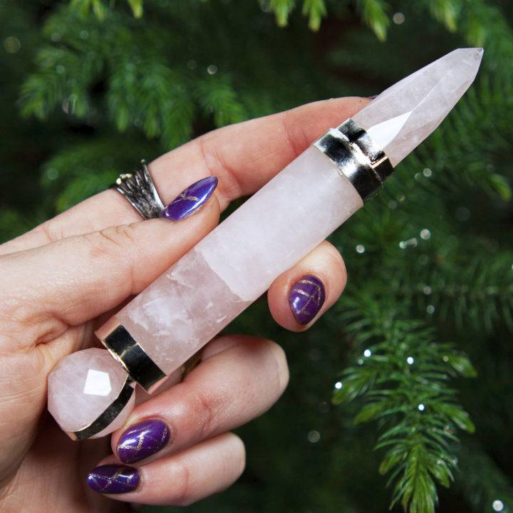 Rose Quartz Pocket Wand