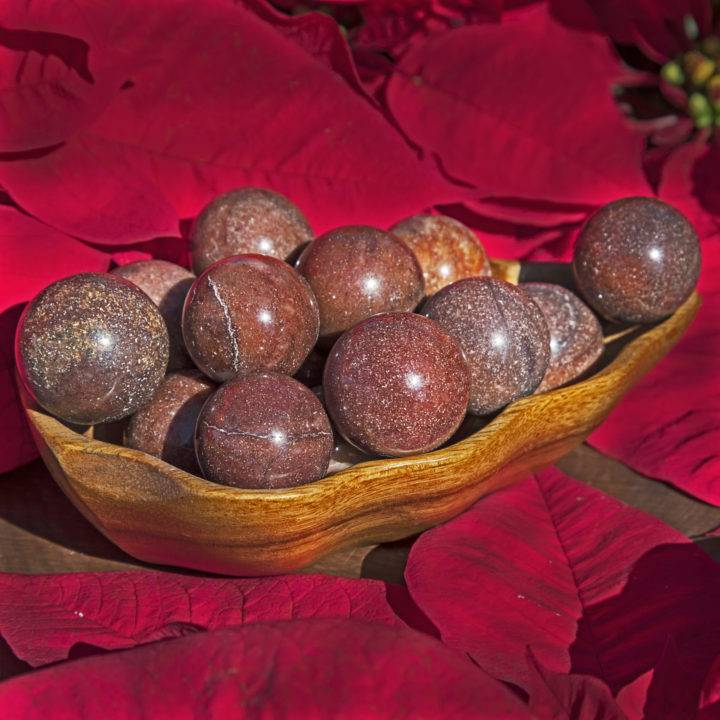 Release and Recover Red Aventurine Sphere