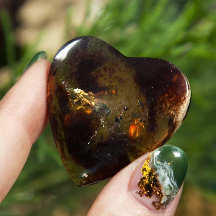 Soul Healing Indonesian Amber Hearts
