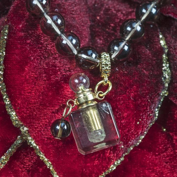 Smoky Quartz Perfume Bottle Bracelet