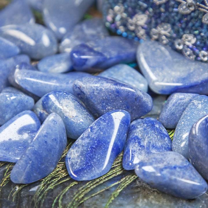 Tumbled Blue Quartz