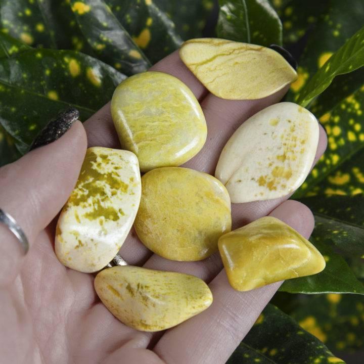 Tumbled Lemon Serpentine