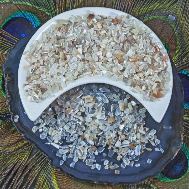 Tumbled Moonstone Chip Stones
