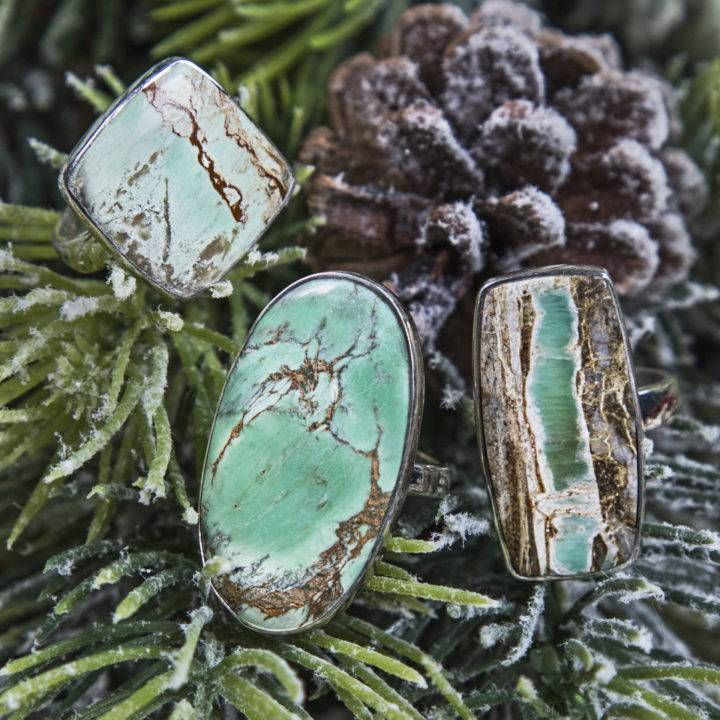 Variscite Peace and Love Rings