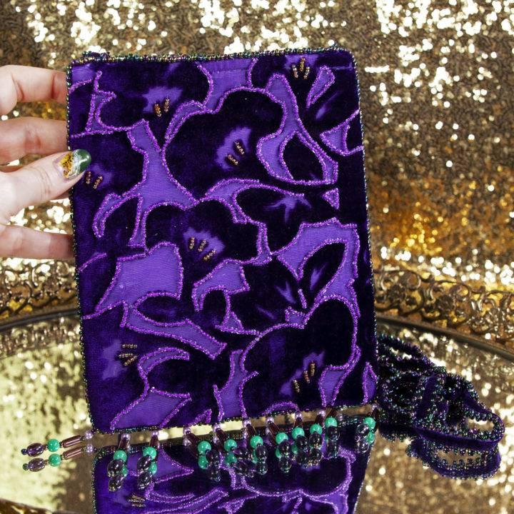 Hand-beaded Velvet Medicine Pouch
