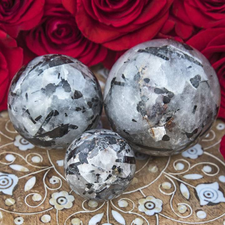 Amplified Protection Tourmalinated Quartz Sphere