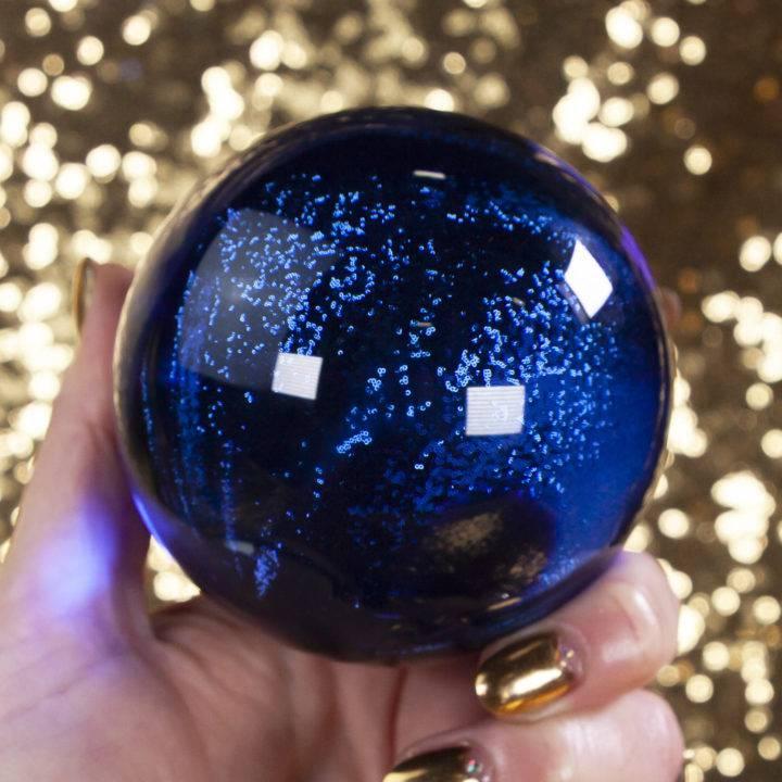 Blue Obsidian Sphere