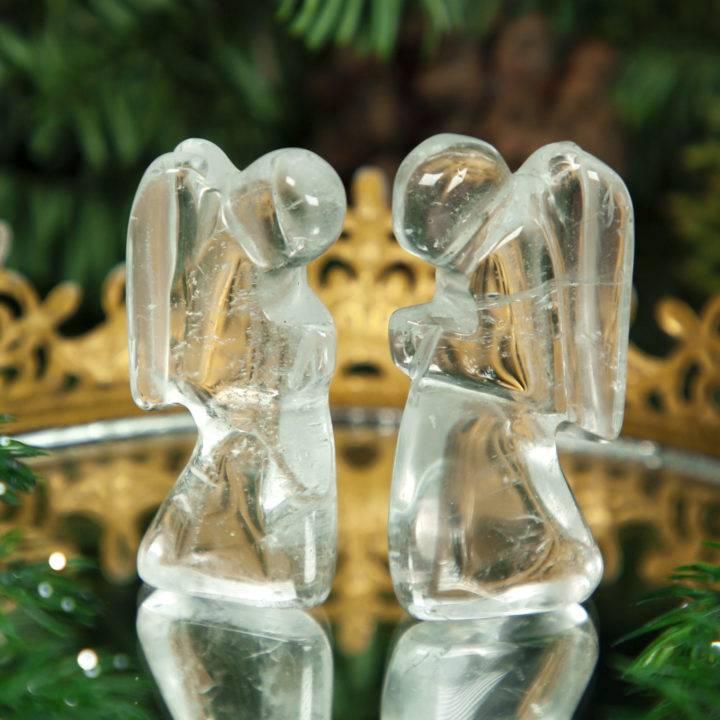 Clear Quartz Praying Angel