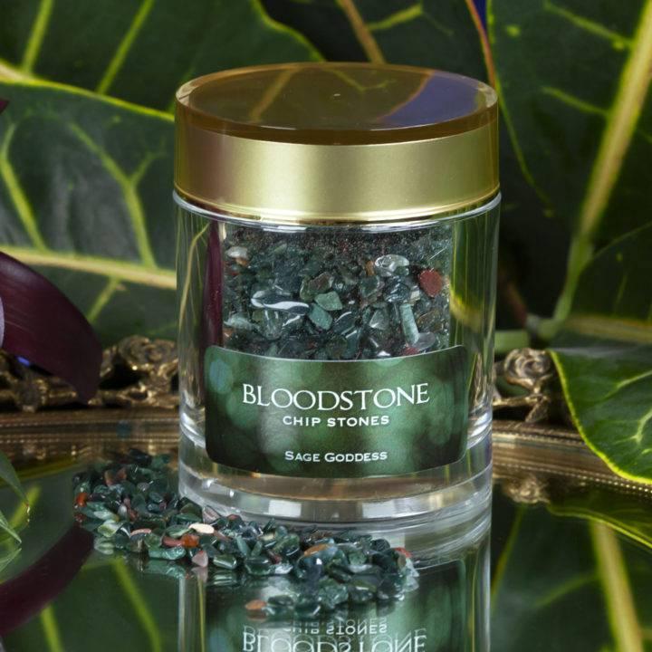 Crystal Sprinkles: Tumbled Bloodstone Chip Stones