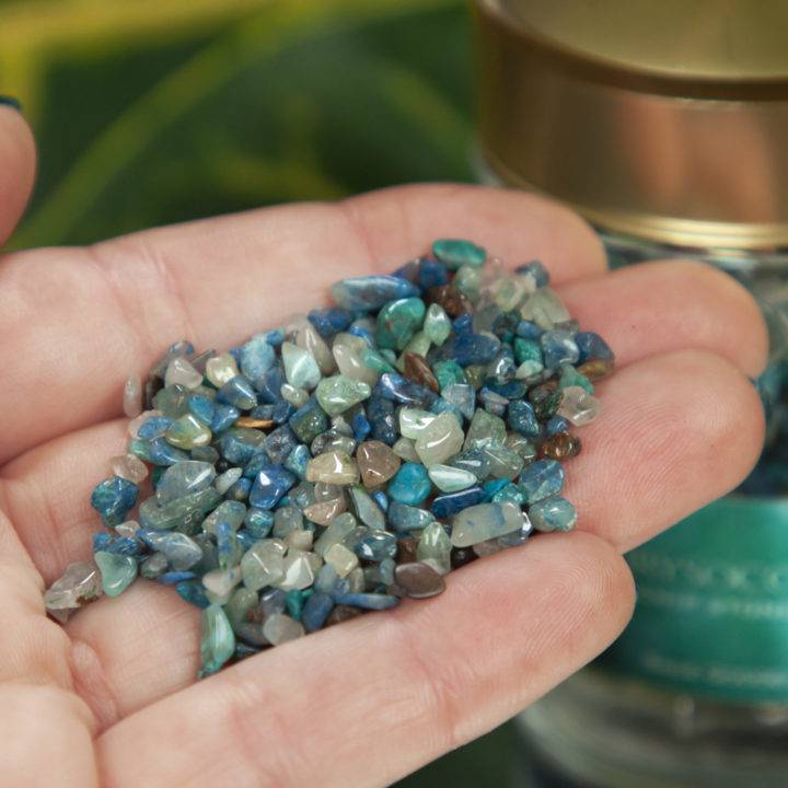 Crystal Sprinkles Tumbled Chrysocolla Chip Stones