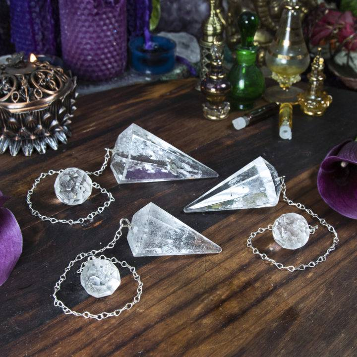 Super-Sized Clear Quartz Pendulum