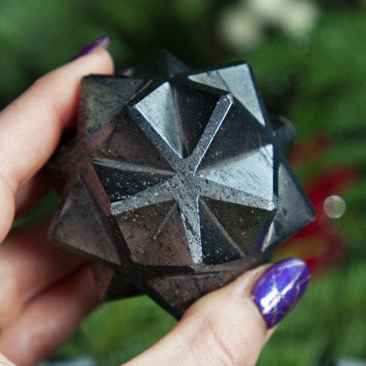 Hematite 3D Metatrons Cube