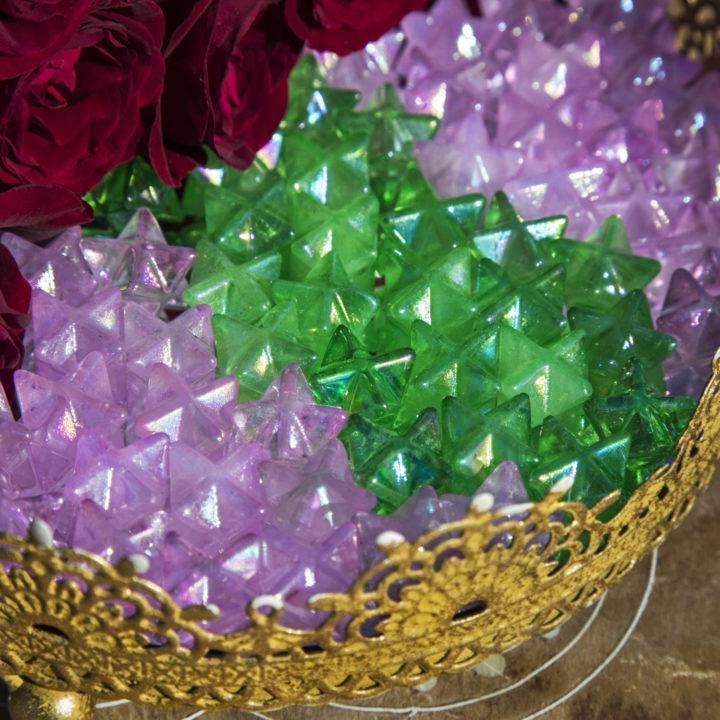 Intuitively Chosen Mini Aura Quartz Heart Chakra Merkaba