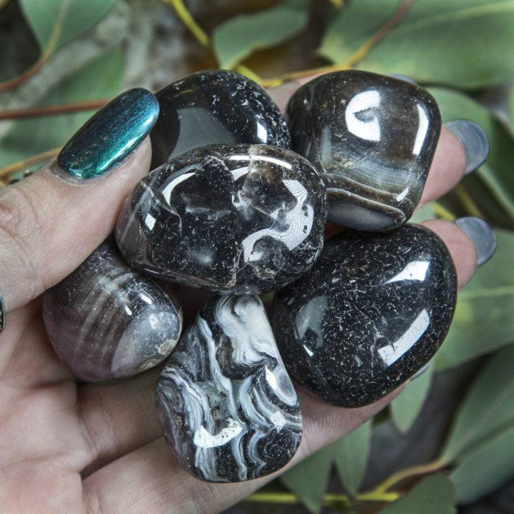 Large Tumbled Black Agate