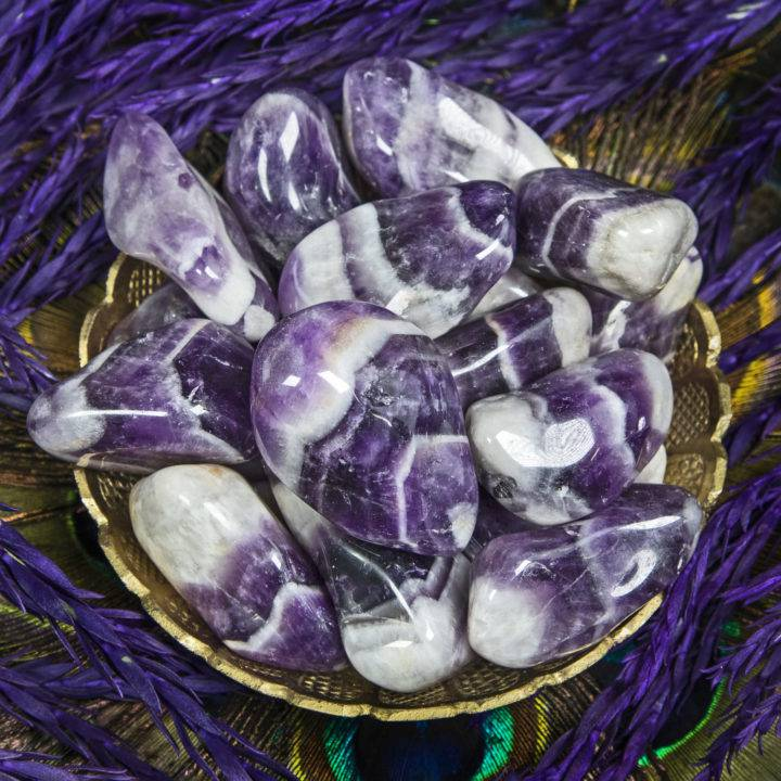 Large Tumbled Dream Amethyst