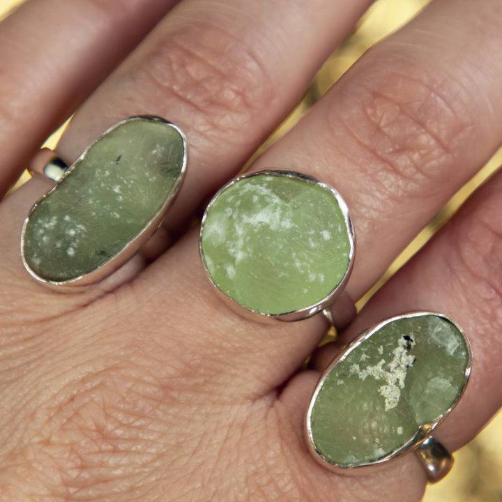 Sterling Prehnite Ring