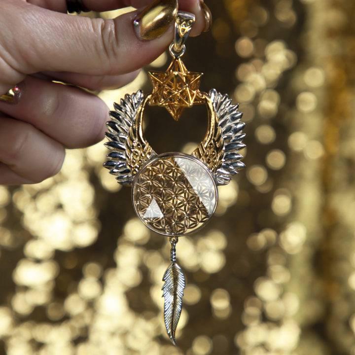 Flower of Life Angel Star Pendant