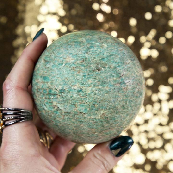 Amazonite and Smoky Quartz Sphere