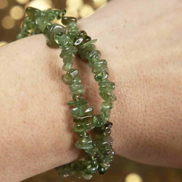Green Apatite Stretch Bracelet