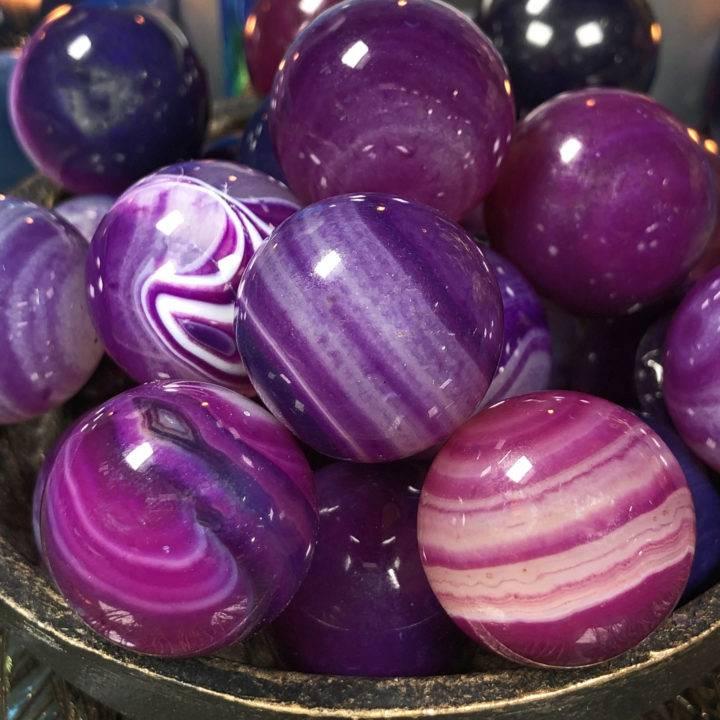 Mini Purple Agate Sphere