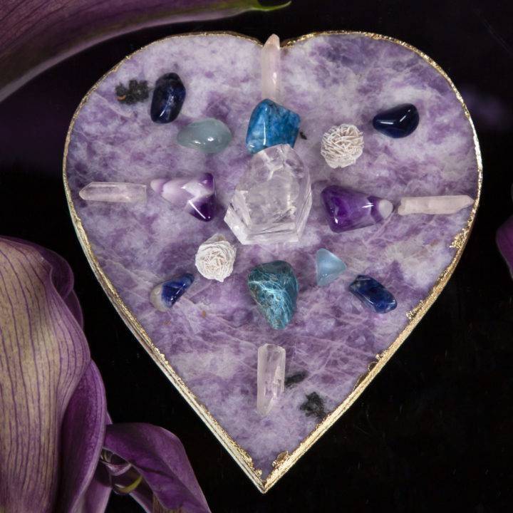 Peaceful Heart Crystal Grid